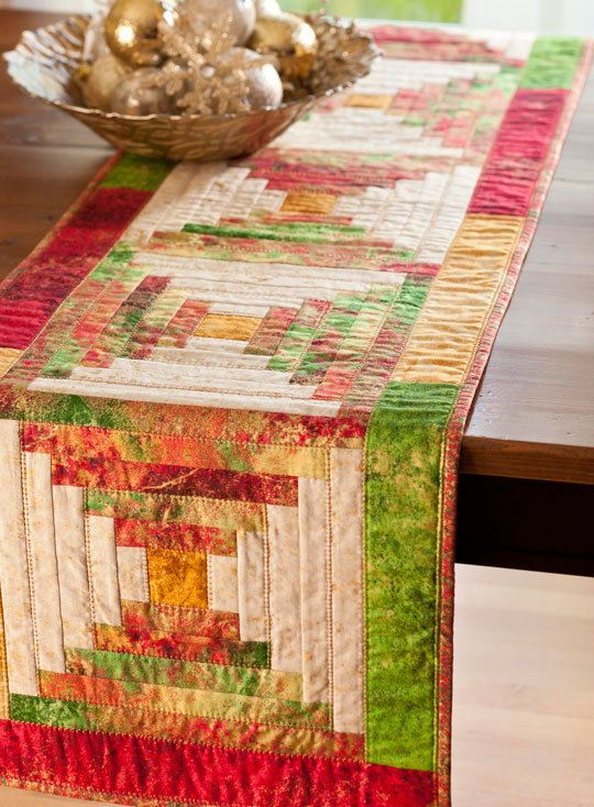 Christmas Cabin Table Runner AllPeopleQuilt Unique Table Runner Quilt Patterns