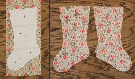 picture regarding Free Printable Christmas Stocking Pattern named Simple Xmas Stocking