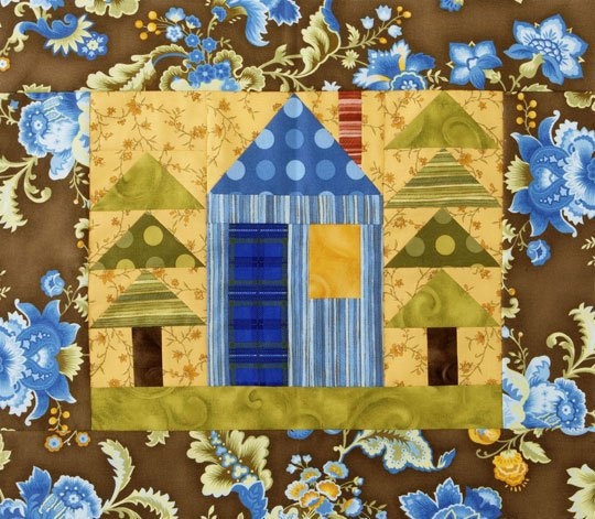 House And Trees Wall Hanging Allpeoplequilt Com