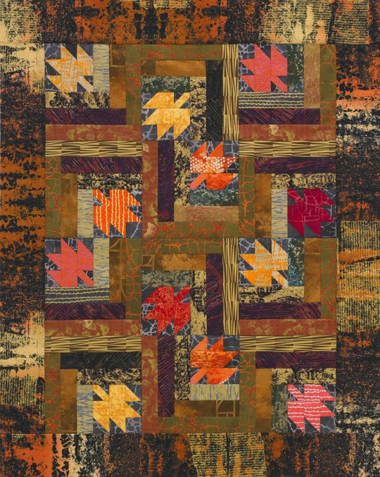 Maple Leaf Log Cabins Allpeoplequilt
