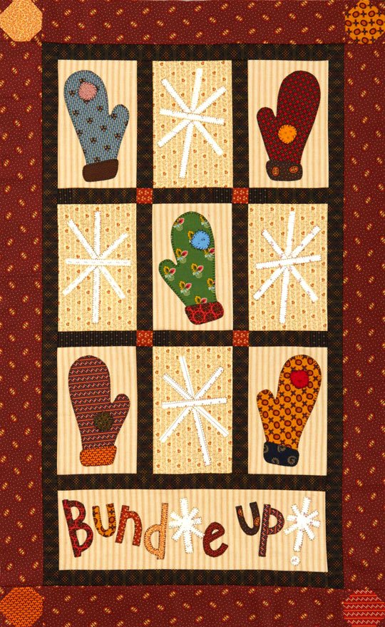 Mittens And Snowflakes Wall Quilt Allpeoplequilt Com