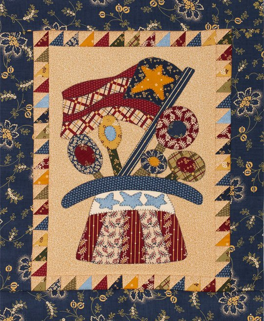 Patriotic Folk Art Quilt | AllPeopleQuilt.com : art quilt patterns free - Adamdwight.com