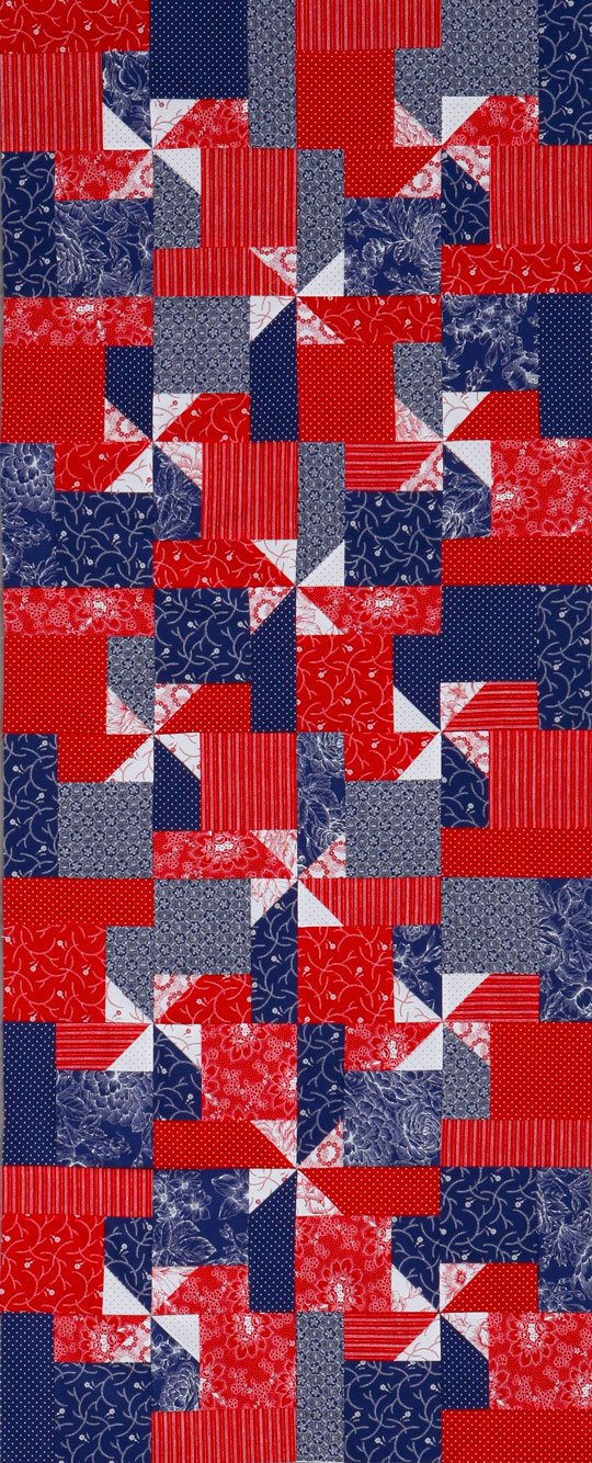 Awe Inspiring Patriotic Pinwheels Table Runner Allpeoplequilt Com Home Interior And Landscaping Eliaenasavecom