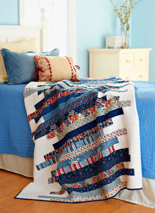 Line Art Quilt Pattern Holly Hickman : Skinny strips quilt allpeoplequilt