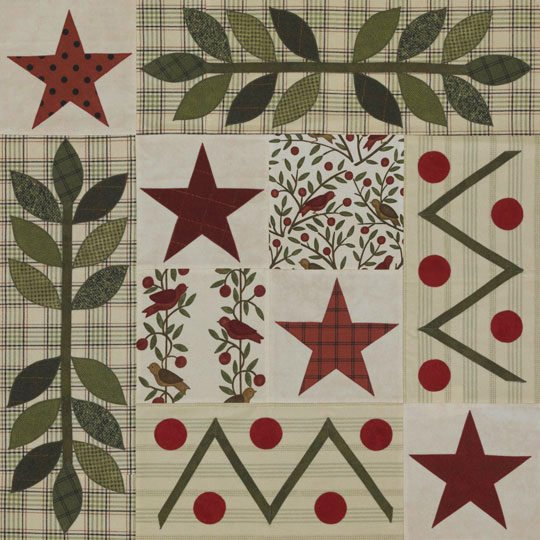 Stars And Leaves Appliqu Allpeoplequilt