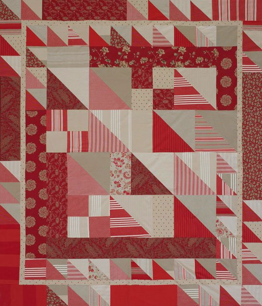 Triangle Squares Bed Quilt Allpeoplequilt Com