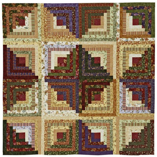 Light And Dark Log Cabin Quilt Allpeoplequilt