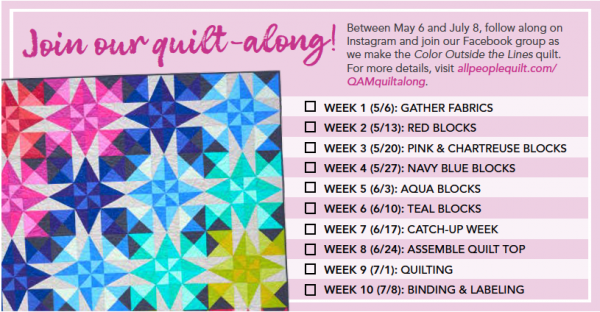Color Outside the Lines Quilt-Along Schedule