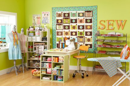 Stylish Sewing Room